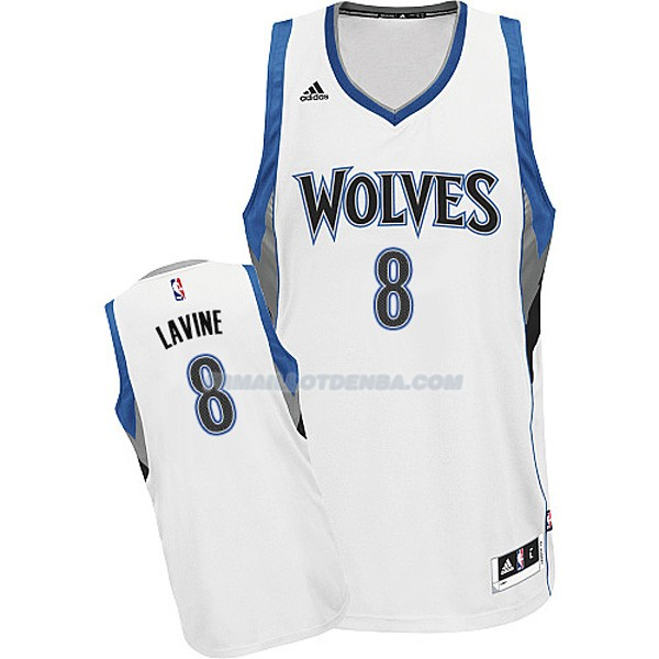 Maillot Timberwolves Lavine Blanco