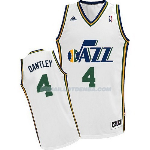 Maillot Basket Utah Jazz Dantley 4 Blanco