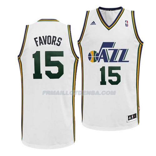 Maillot Basket Utah Jazz Favors 15 Blanco