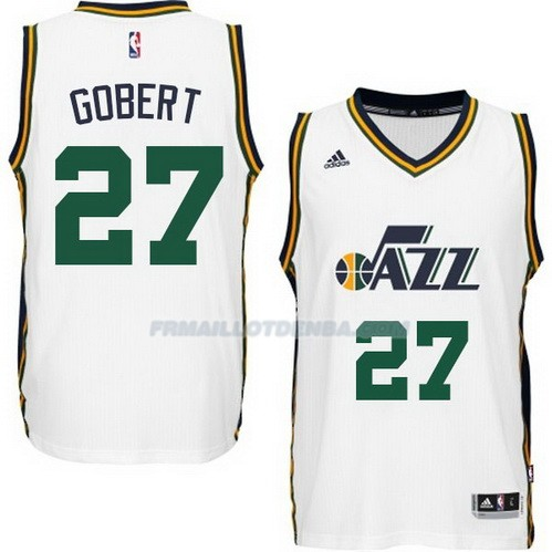 Maillot Basket Utah Jazz Gobert 27 Blanco