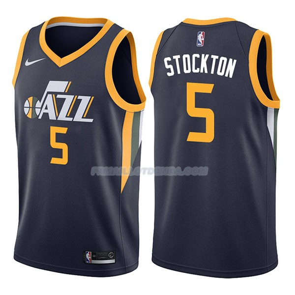 Maillot Utah Jazz David Stockton Icon 2017-18 5 Azul