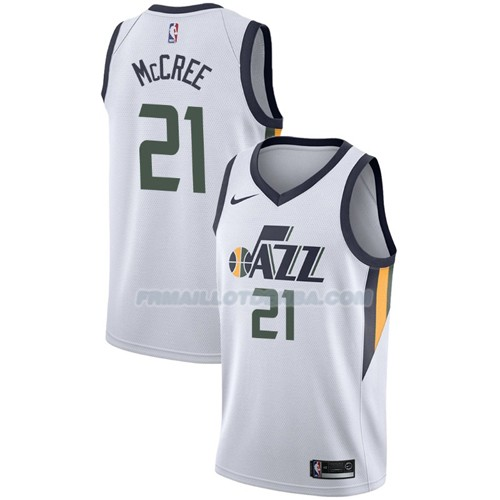 Maillot Utah Jazz Erik Mccree Association 2017-18 21 Blanc