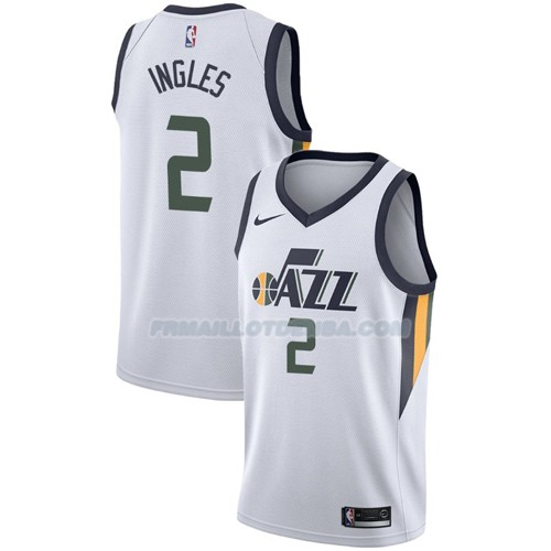 Maillot Utah Jazz Joe Ingles Association 2017-18 2 Blanc