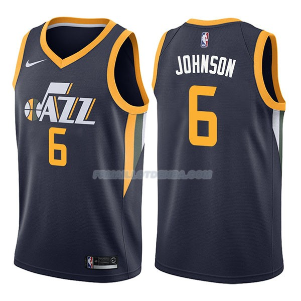 Maillot Utah Jazz Joe Johnson Icon 2017-18 6 Azul