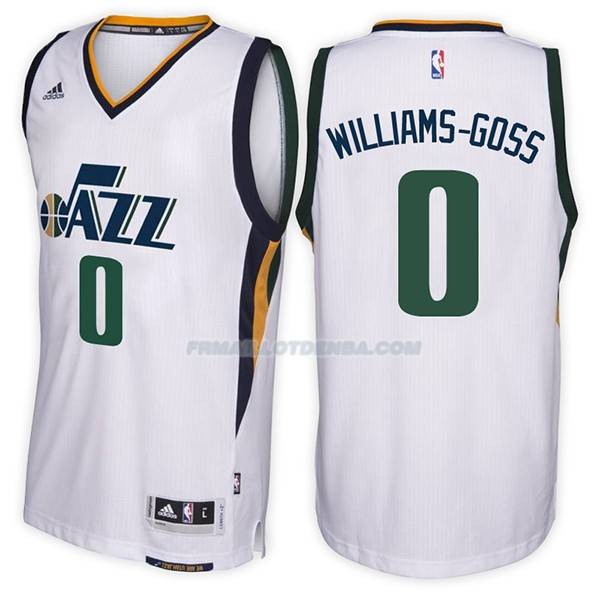 Maillot Utah Jazz Nigel Williams Goss Home 2017-18 0 Blancoo