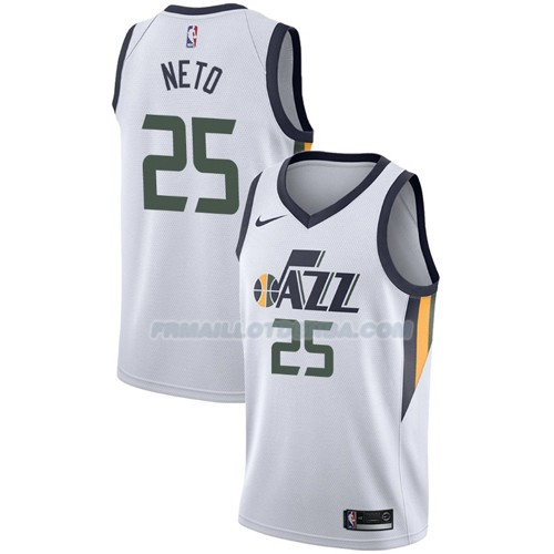 Maillot Utah Jazz Raul Neto Association 2017-18 25 Blanc