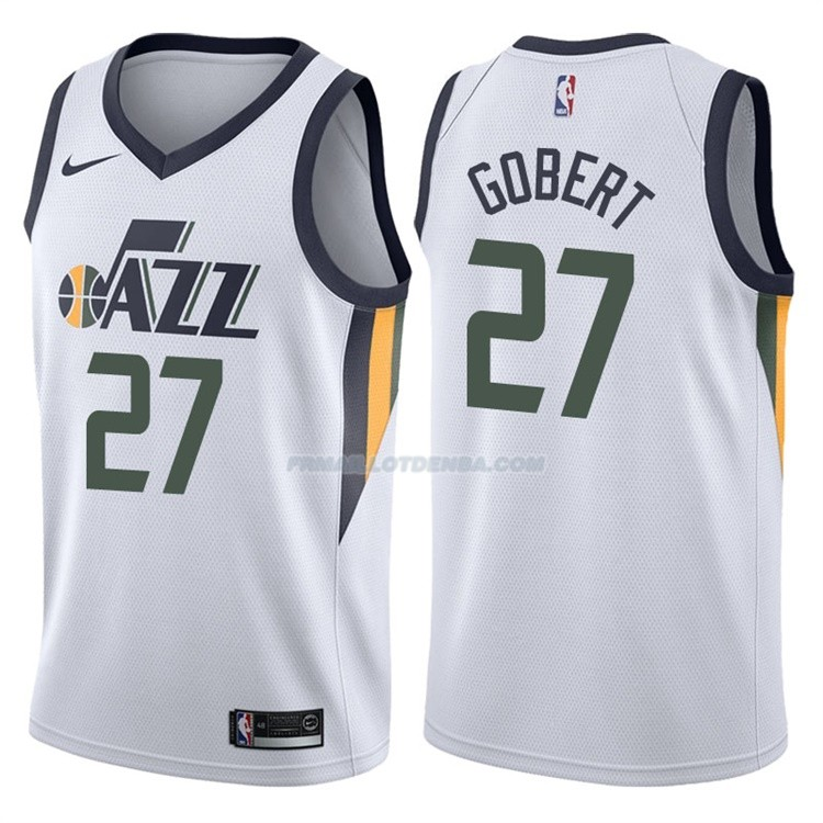 Maillot Utah Jazz Rudy Gobert Association 2017-18 27 Noir