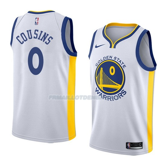Maillot Golden State Warriors Demarcus Cousins Association 0 2018-19 Blanc