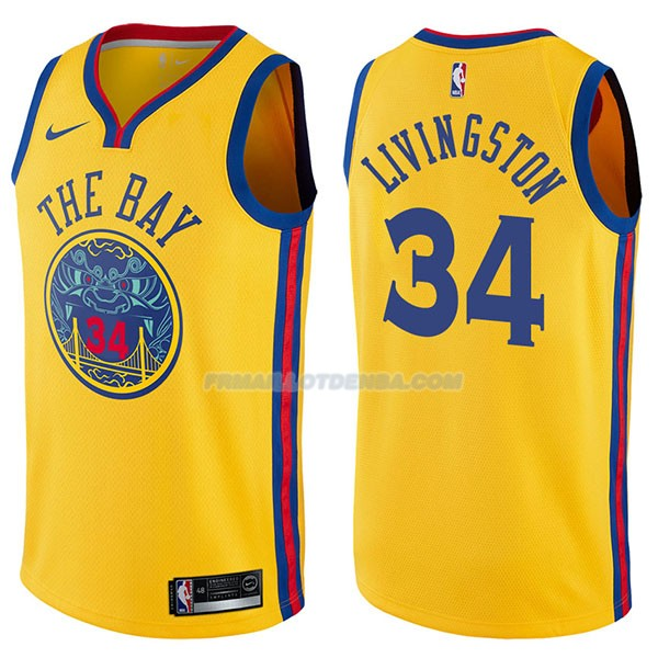 Maillot Golden State Warriors Shaun Livingston Chinese Heritage Ciudad 2017-18 34 Oroo