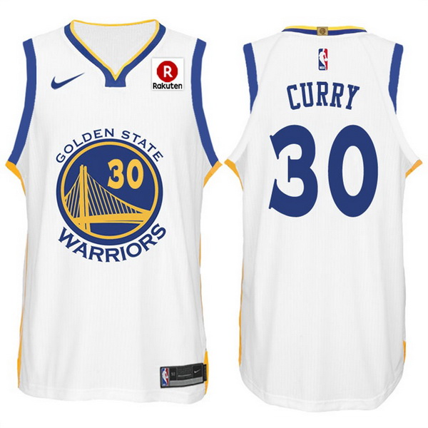 Nike Maillot Basket Golden State Warriors Curry 30 Blanc