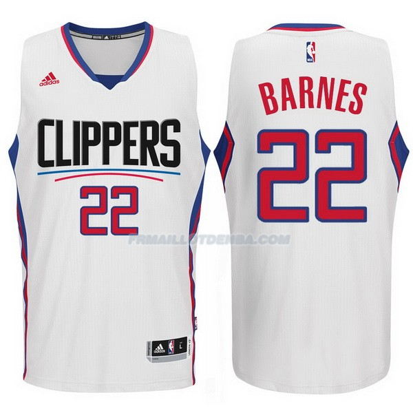 Maillot Basket Los Angeles Clippers 2015-16 Barnes 22 Blanco
