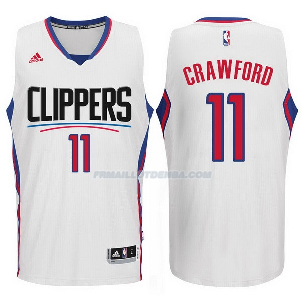 Maillot Basket Los Angeles Clippers 2015-16 Crawford 11 Blanco