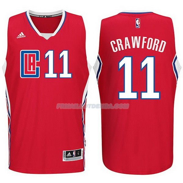 Maillot Basket Los Angeles Clippers 2015-16 Crawford 11 Rojo