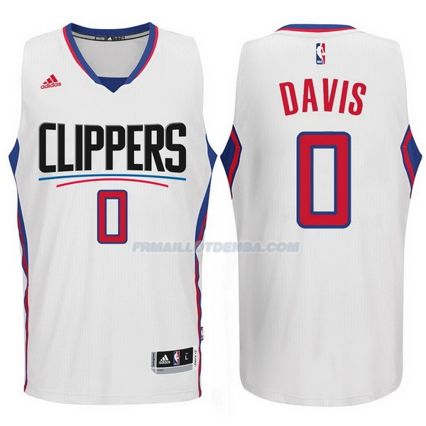 Maillot Basket Los Angeles Clippers 2017-18 Davis 0 Blanco