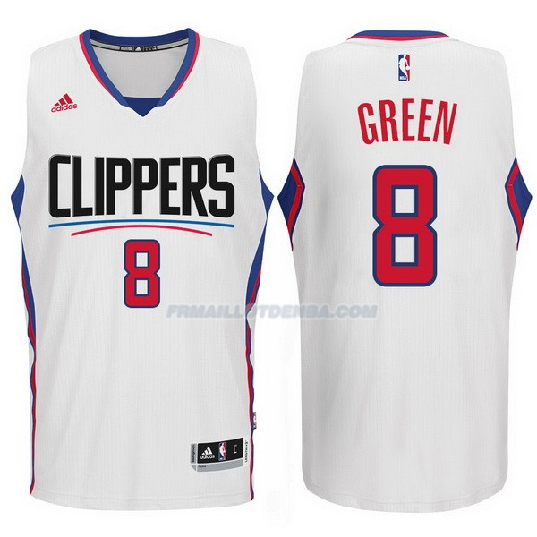 Maillot Basket Los Angeles Clippers 2017-18 Green 8 Blanco