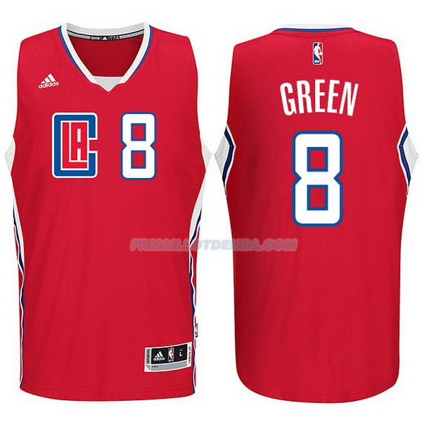 Maillot Basket Los Angeles Clippers 2017-18 Green 8 Rojo