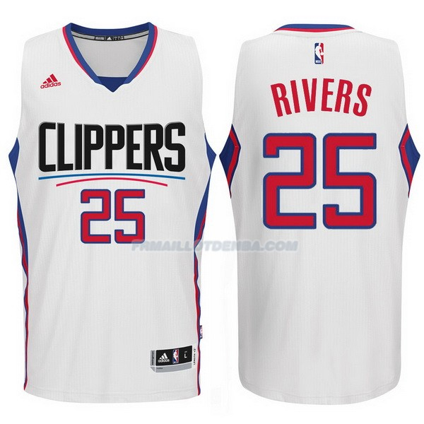 Maillot Basket Los Angeles Clippers 2017-18 Rivers 25 Blanco