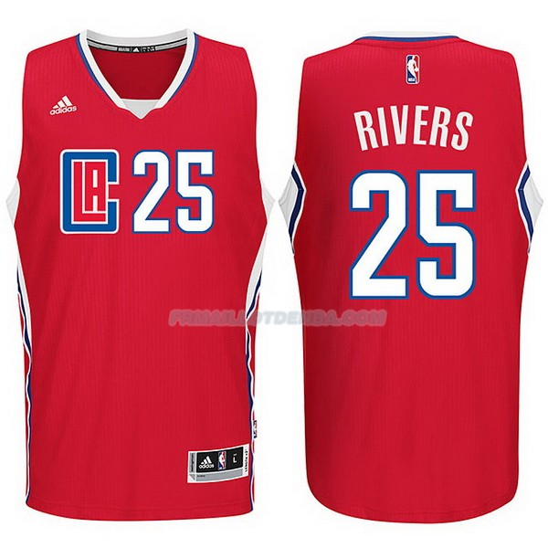 Maillot Basket Los Angeles Clippers 2017-18 Rivers 25 Rojo