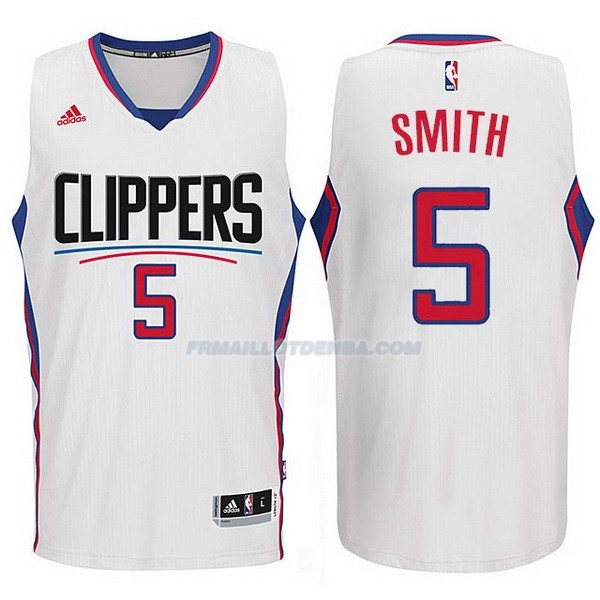 Maillot Basket Los Angeles Clippers 2017-18 Smith 5 Blanco