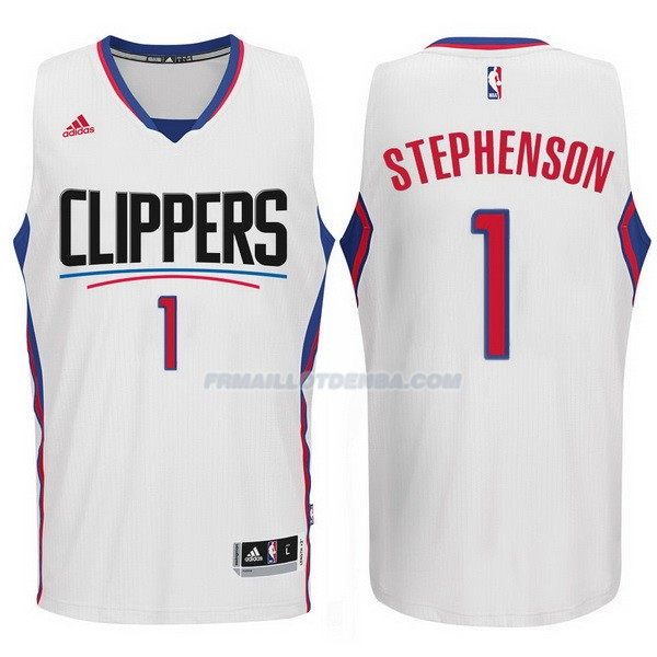 Maillot Basket Los Angeles Clippers 2017-18 Stephenson 1 Blanco