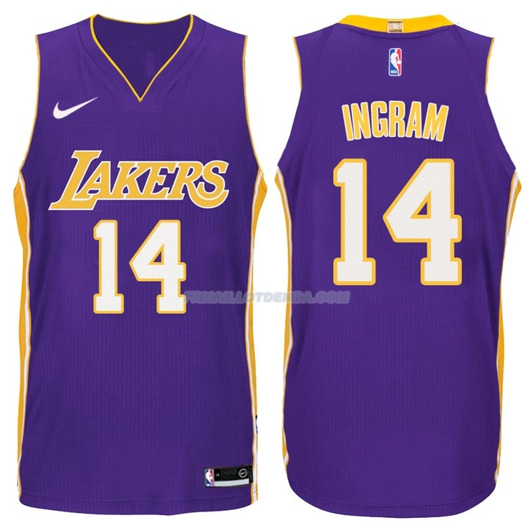 Maillot Basket Authentique Los Angeles Lakers Ingram 2017-18 14 Volet