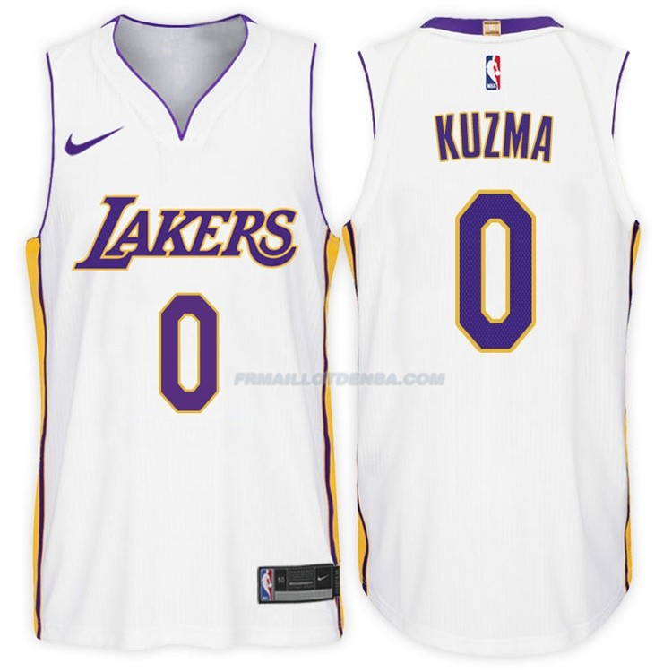 Maillot Basket Authentique Los Angeles Lakers Kuzma 2017-18 0 Blanc