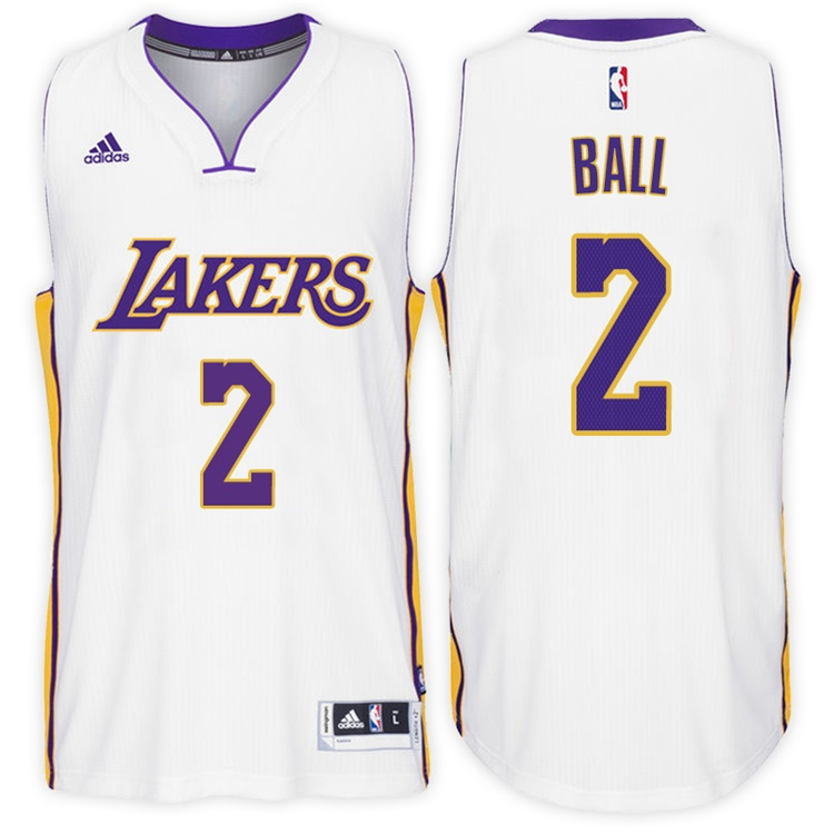 Maillot Basket Los Angeles Lakers Ball 2 Blanc