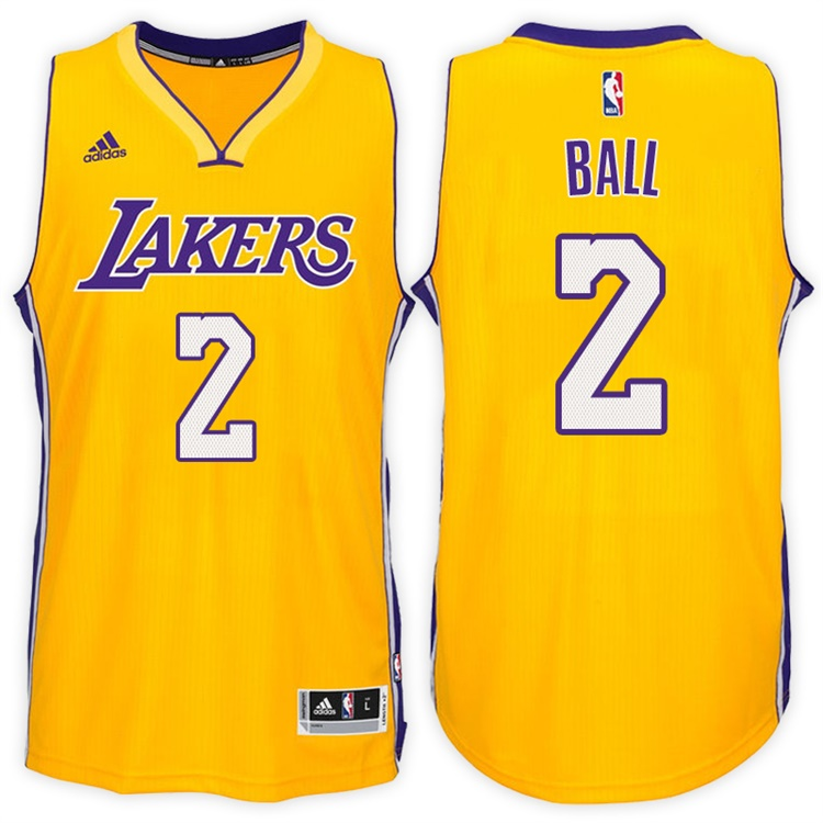 Maillot Basket Los Angeles Lakers Ball 2 Jaune