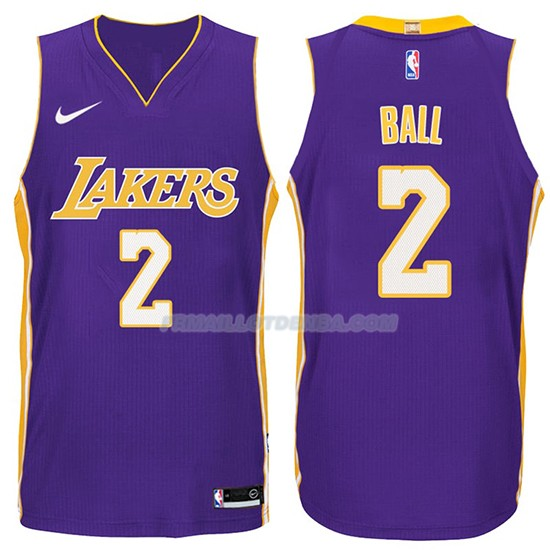 Maillot Basket Lakers Lonzo Ball 2017-18 2 Volet