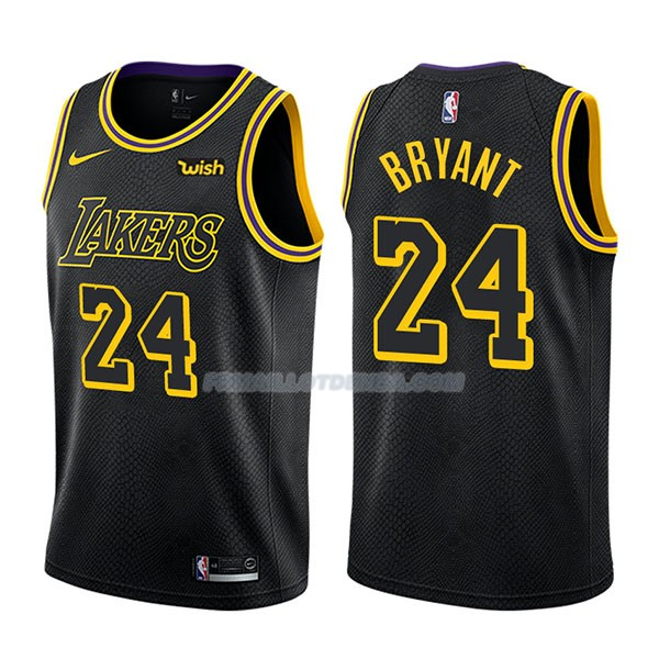 Maillot Los Angeles Lakers Bryant Ciudad 24 Negro