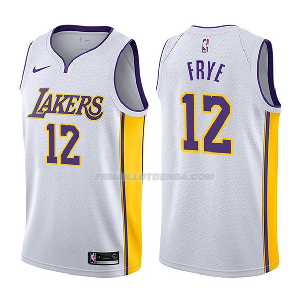 Maillot Los Angeles Lakers Channing Frye Association 2017-18 12 Blancoo
