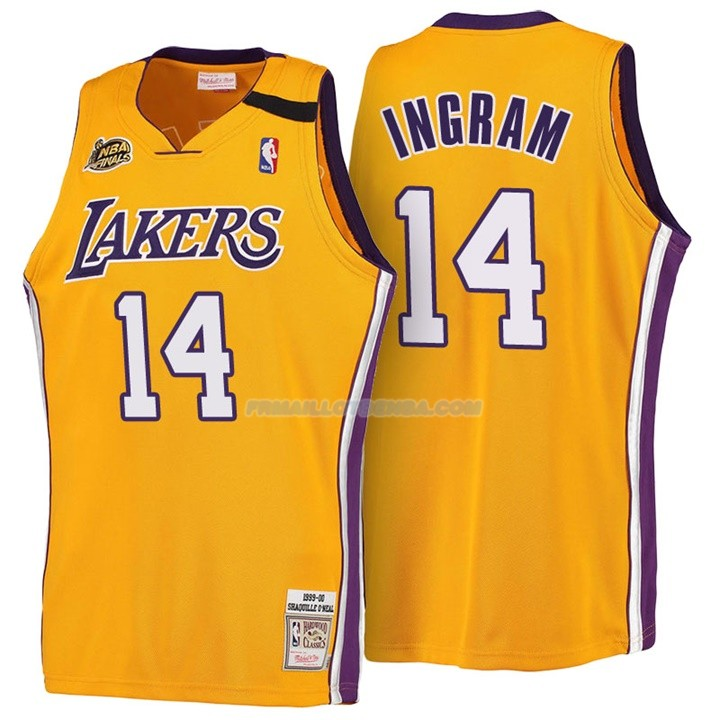 Maillot Basket Retro 1999-00 Los Angeles Lakers Ingram 14 Amarillo