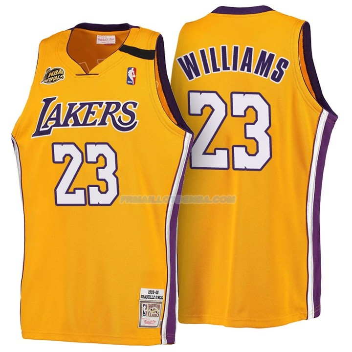 Maillot Basket Retro 1999-00 Los Angeles Lakers Williams 23 Amarillo
