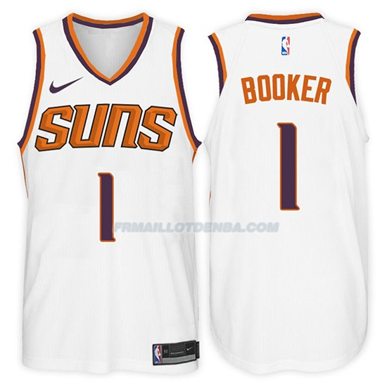 Maillot Suns Devin Booker 2017-18 1 Blanc