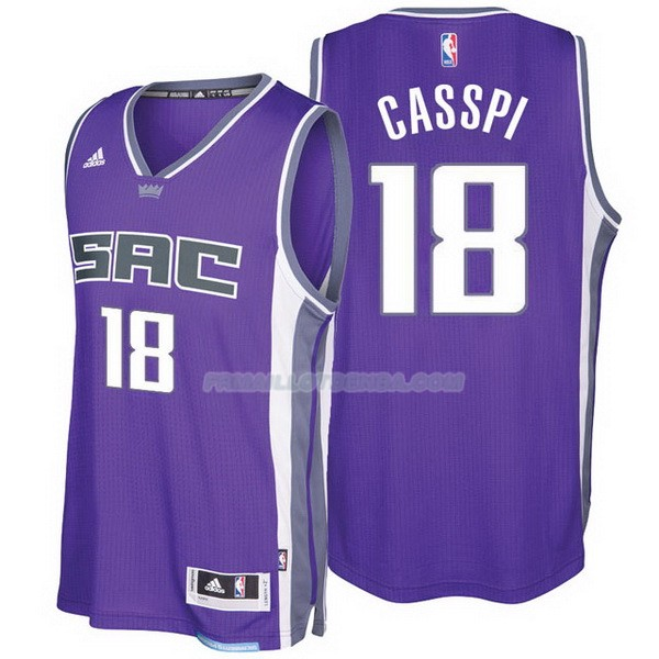 Maillot Basket Sacramento Kings 2017-18 Casspi 18 Purpura
