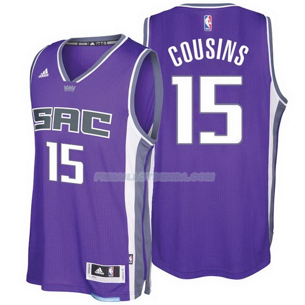 Maillot Basket Sacramento Kings 2017-18 Cousins 15 Purpura