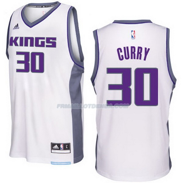 Maillot Basket Sacramento Kings 2017-18 Curry 30 Blanco