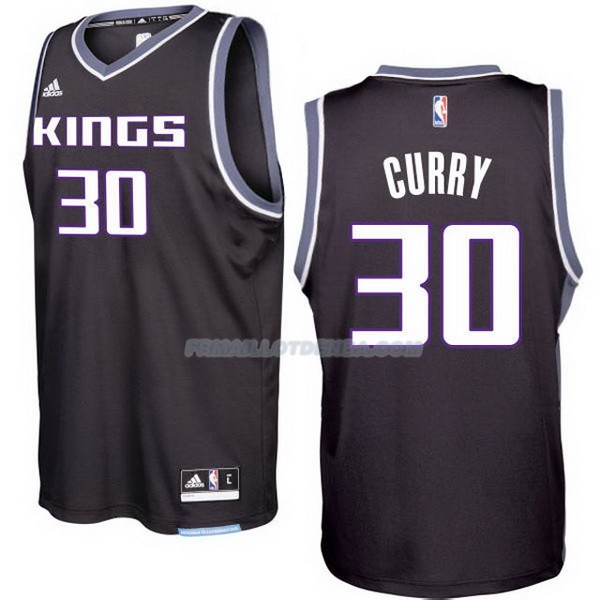 Maillot Basket Sacramento Kings 2017-18 Curry 30 Negro