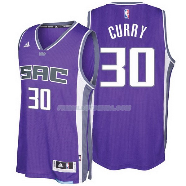 Maillot Basket Sacramento Kings 2017-18 Curry 30 Purpura
