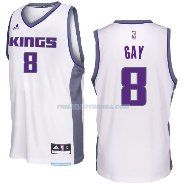 Maillot Basket Sacramento Kings 2017-18 Gay 8 Blanco