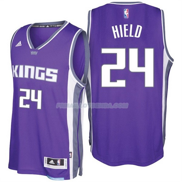 Maillot Basket Sacramento Kings 2017-18 Hield 24 Purpura