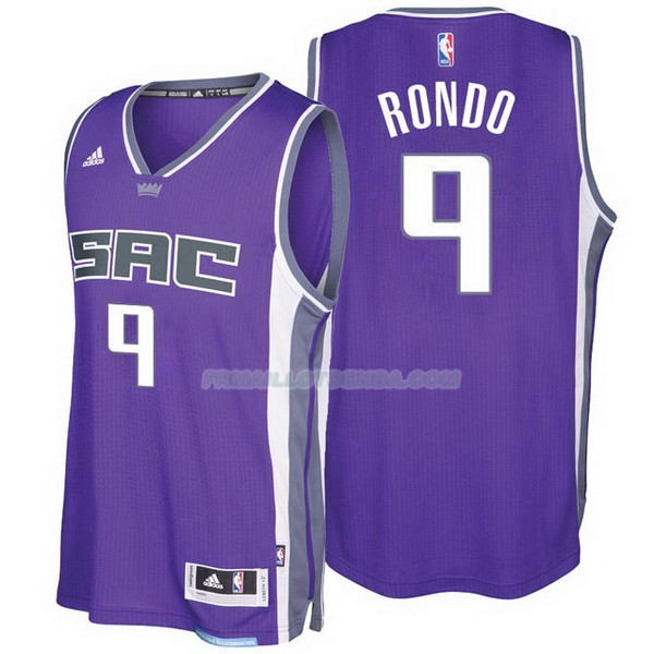 Maillot Kings 2016-17 Rondo Purpura