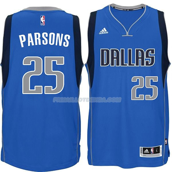 Maillot Basket Dallas Mavericks Parsons 25 Azul