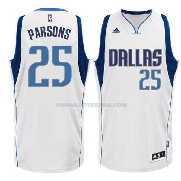 Maillot Basket Dallas Mavericks Parsons 25 Blanco