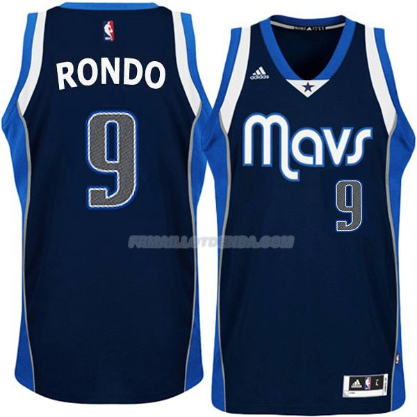 Maillot Basket Dallas Mavericks Rondo 9 Azul