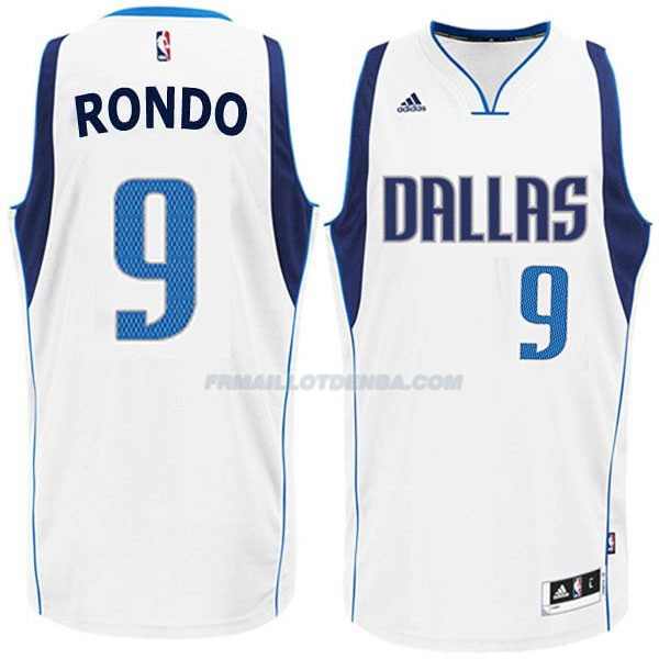 Maillot Basket Dallas Mavericks Rondo 9 Blanco