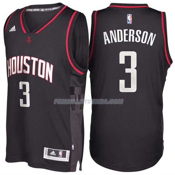 Maillot Basket Alternate Black Space City Houston Rockets Anderson 3 Negro