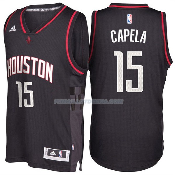 Maillot Basket Alternate Black Space City Houston Rockets Capela 15 Negro