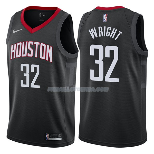 Maillot Houston Rockets Brandan Wright Statehombret 2017-18 32 Negro