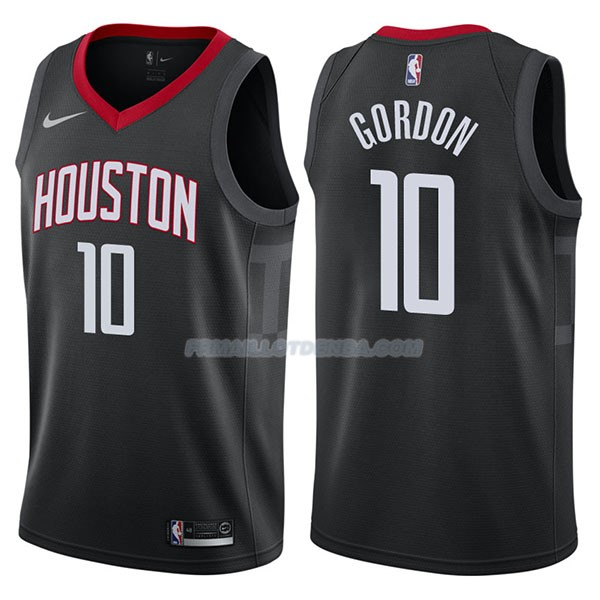 Maillot Houston Rockets Eric Gordon Statehombret 2017-18 10 Negro